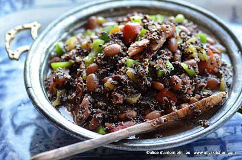 black quinoa beans & green chiles