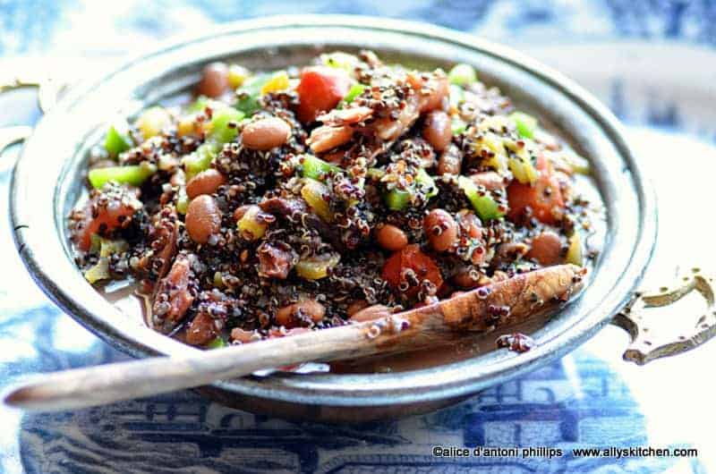 black quinoa beans & green chiles