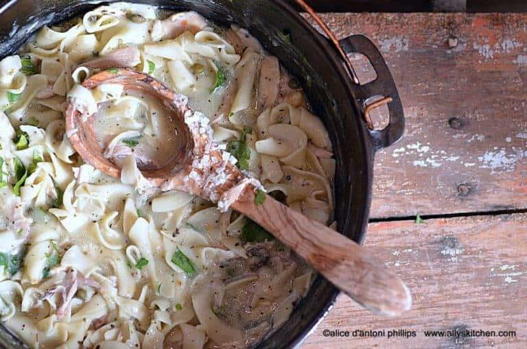 homemade chicken piccata soup