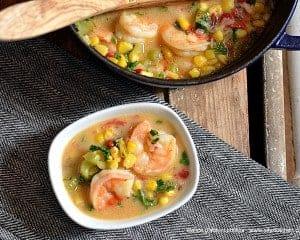 spicy coconut shrimp soup