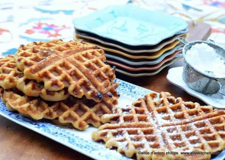 carrot cake pineapple date nut waffles