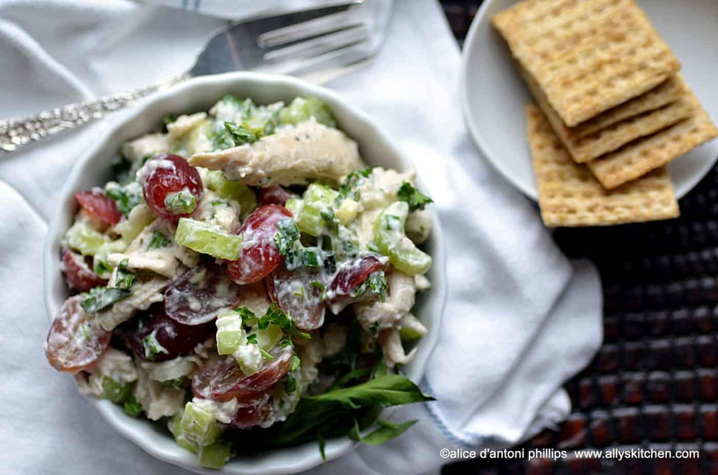 fresh herb chicken salad