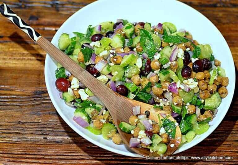 Spicy Garbanzo Bean Salad