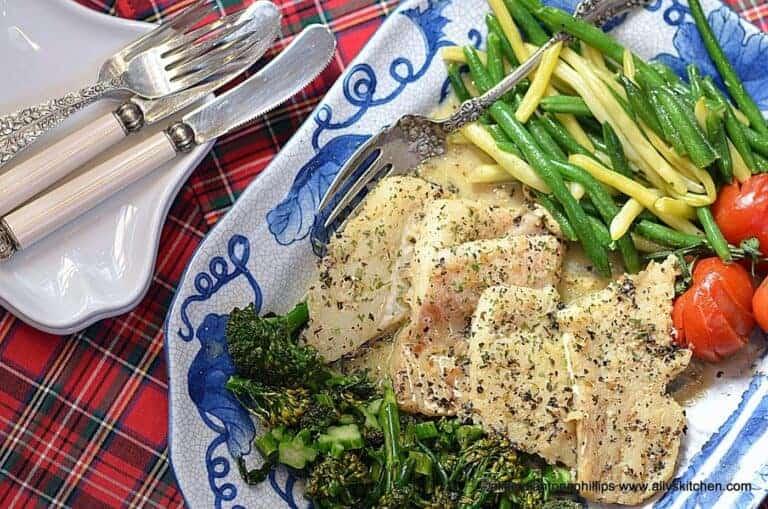 sauteed cod in greek seasoned butter wine sauce