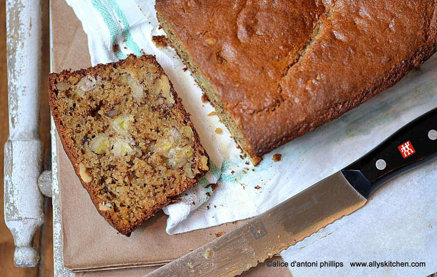 chunkie banana nut brown sugar bread