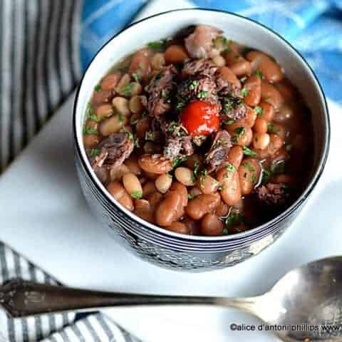 coal miner's pinto & navy beans