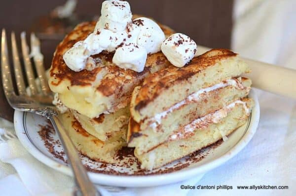 s'mores coconut pancakes