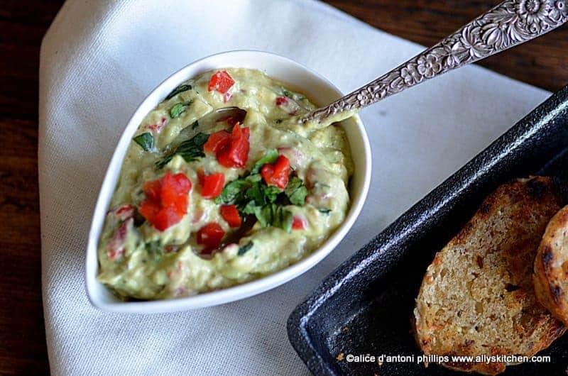 avocado pimento cheese fruit spread