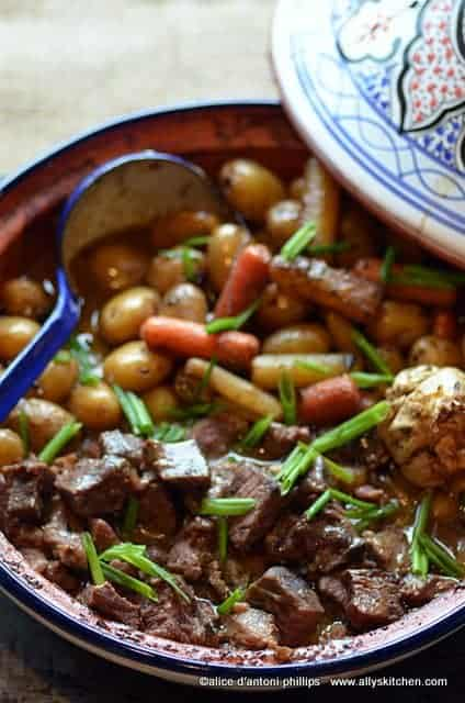 tagine of beef and vegetables