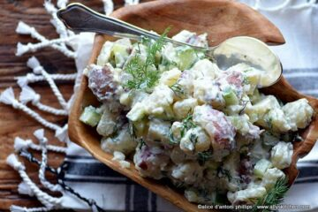 eastern european red potato dill yogurt salad