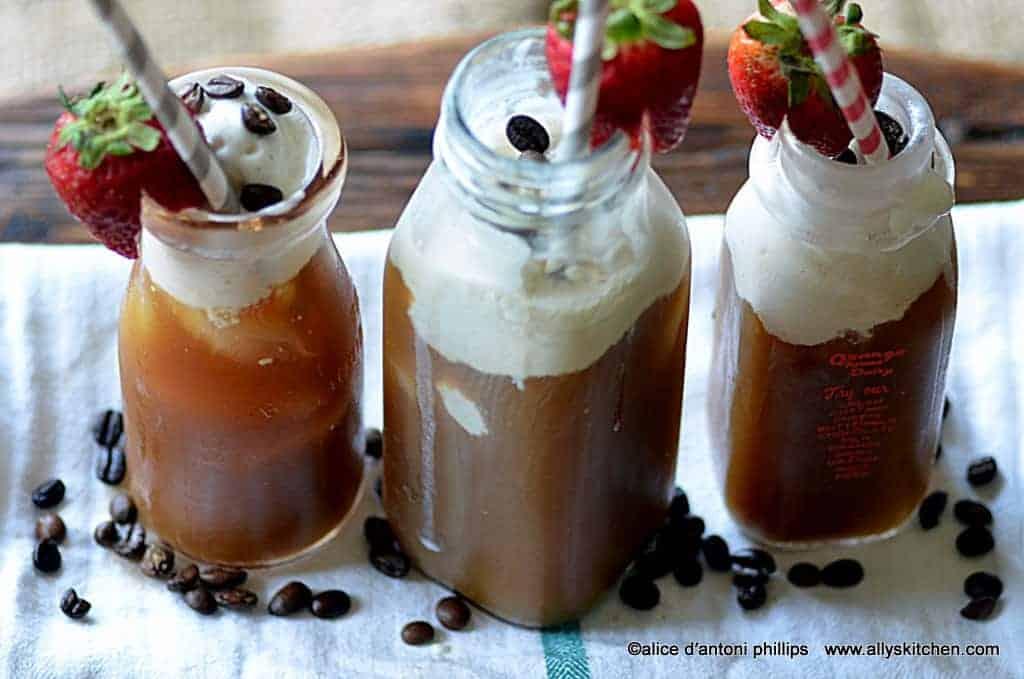 coffee strawberry chiller