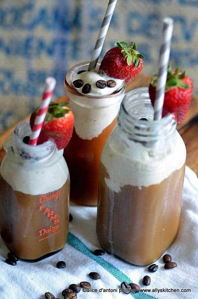 coffee strawberry chiller
