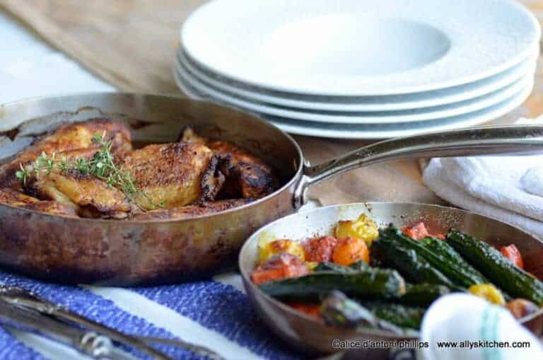 spicy smoky chicken with roasted veggies