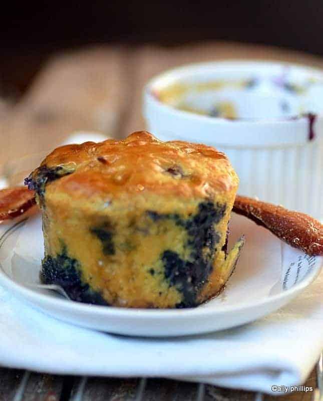 blueberry ramekin pancakes