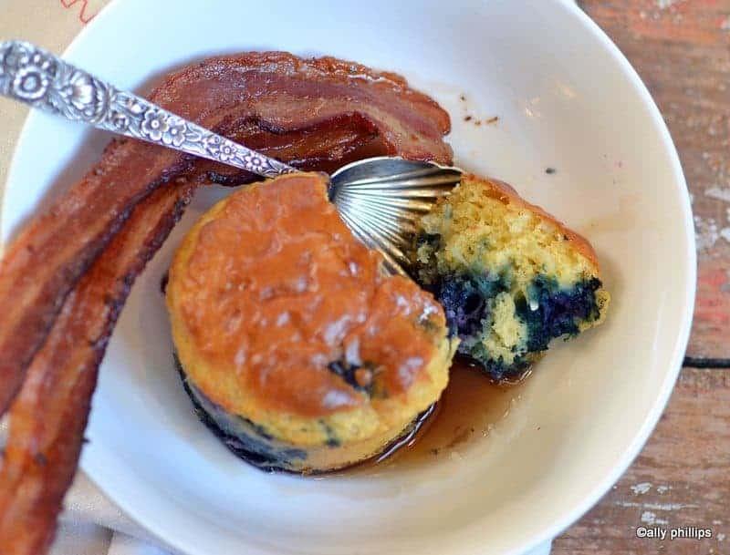 blueberry spooncakes