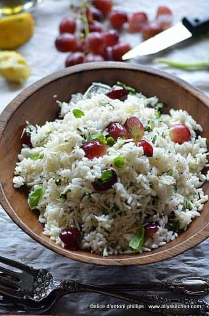 delta blue rice salad