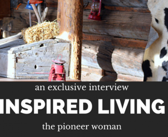 inspired home~talking with ree drummond
