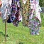 Shirts and dresses hanging from the line - the clothesline talks