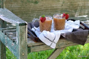 chocolate cinnamon iced coffee