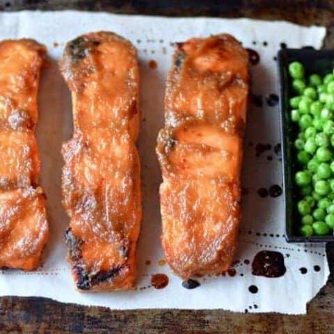 quick & easy miso-glazed salmon