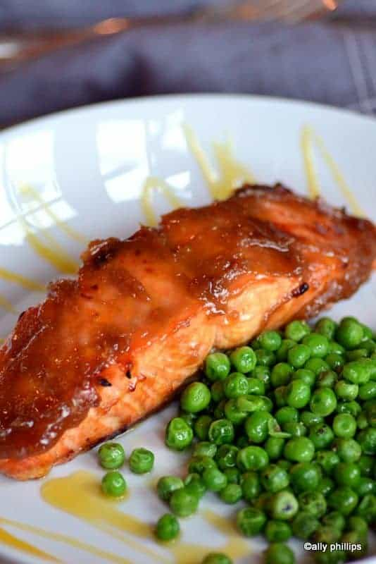 quick & easy miso-glazed salmon
