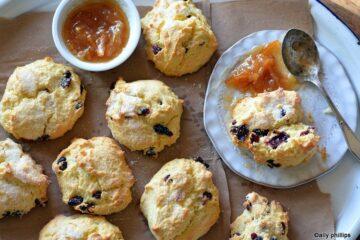 fresh orange cranberry scones