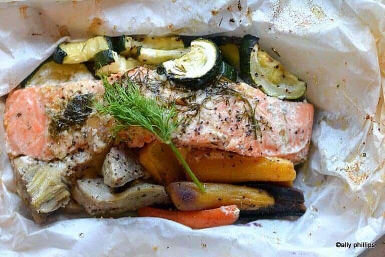 roasted salmon pouches