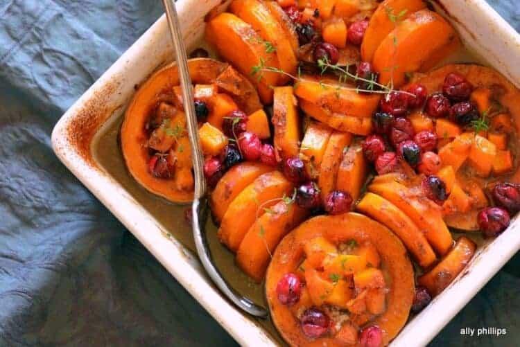 butternut squash cranberry bake