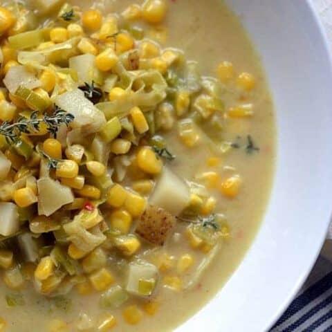coconut curry leek corn chowder