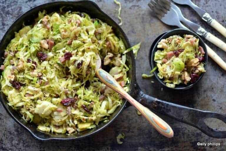 italian chopped brussels sprouts