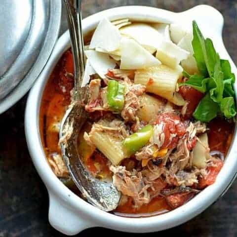 chicken cacciatore soup