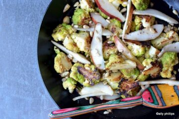caramalized cauliflower & pears