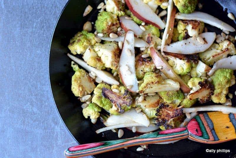 caramalized cauliflower & pears
