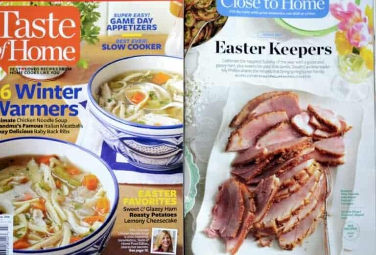 taste of home magazine calls me