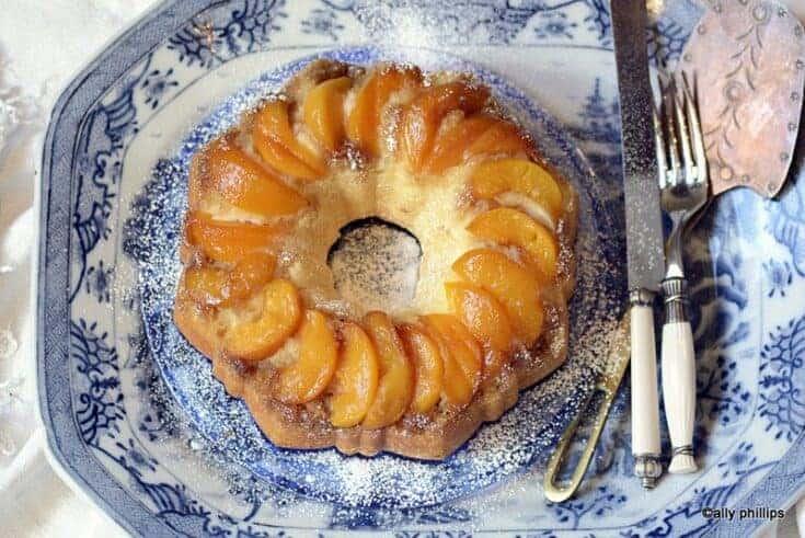 the bridesmaid's peach cake