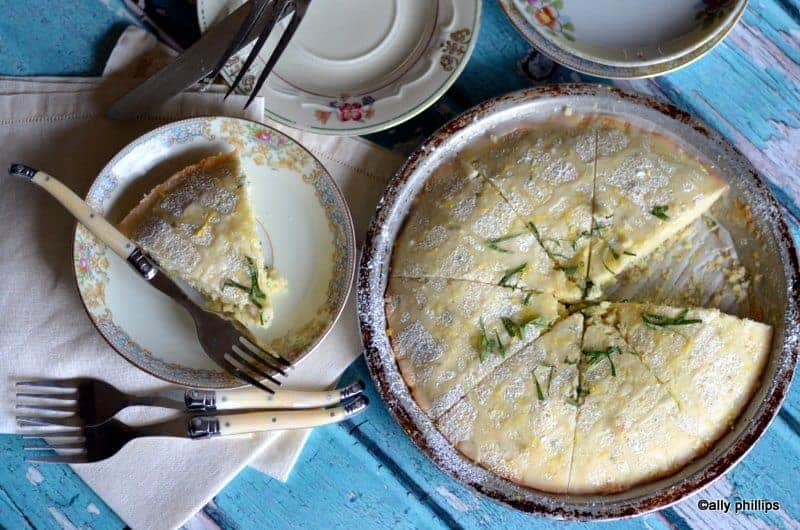 lemon mint cake pie