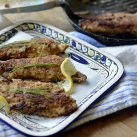 italian fried flounder