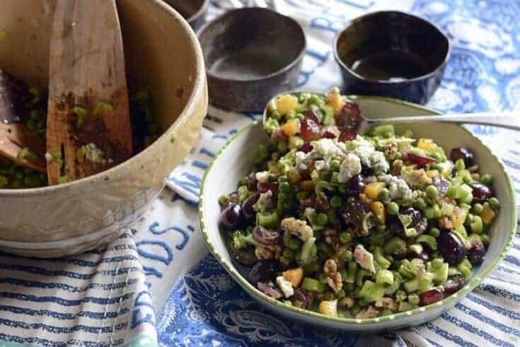 the harvest table peachy salad