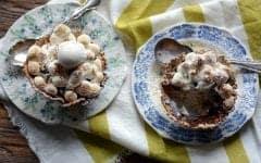 banana coconut waffle s'mores