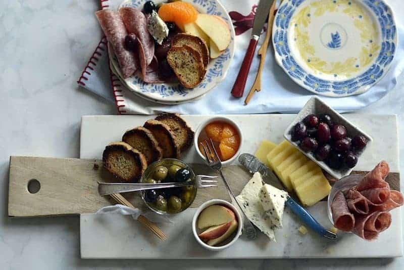 breakfast cheese tray
