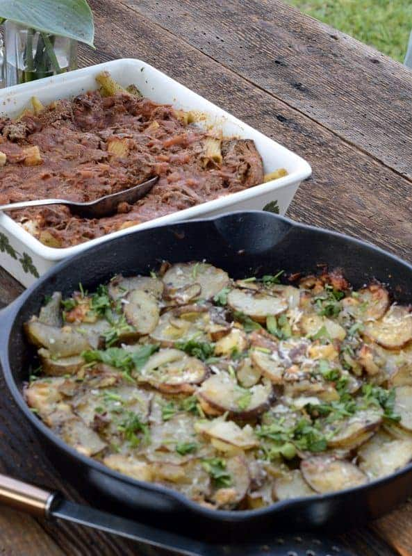 berbere potatoes with leeks & jalapenos