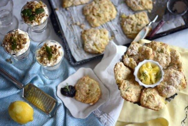 pineapple rosemary scone cakes