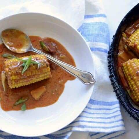 thai red curry coconut corn