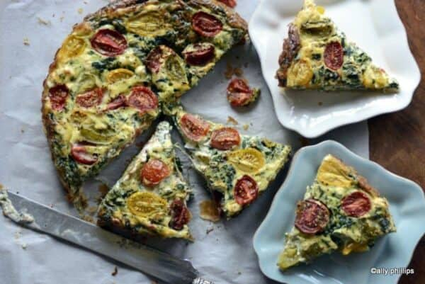 goat cheese spinach tart