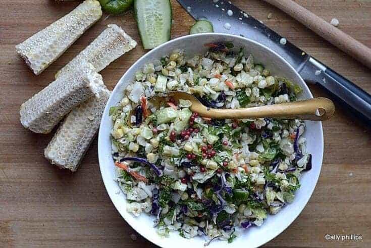 cumin coriander chopped salad