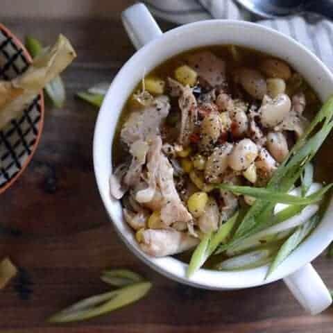 chicken fajita white bean slow cooker soup