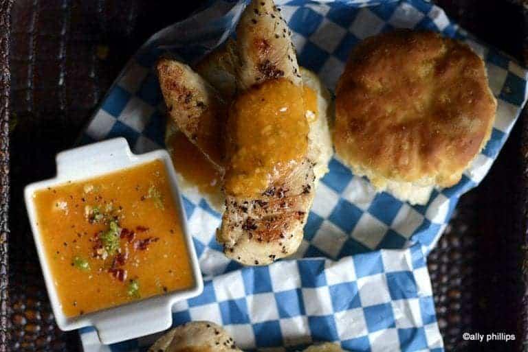 mandarin mango chili lime chicken n' biscuits
