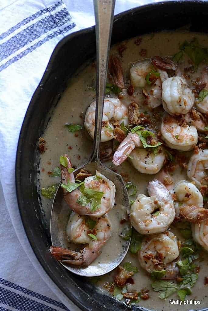shrimp & pancetta gravy