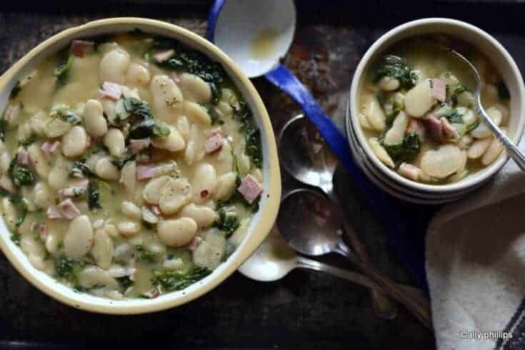 buttery lima beans & spinach