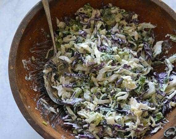 bokchoy cabbage ginger slaw